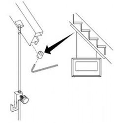 Sada pro montáž na schodiště, stopper a háček s perlonem