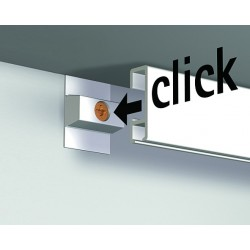 Nástěnná lišta Click Rail, škrábaný hliník - 300 cm