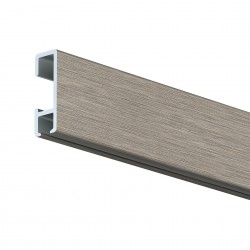 Nástěnná lišta Click Rail, škrábaný hliník - 150 cm