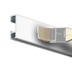 Nástěnná lišta Click Rail, bílá přetíratelná - 150 cm