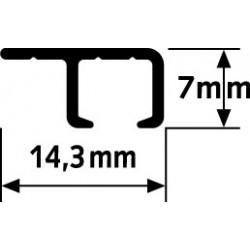Stropní závěsná lišta Top Rail, hliník - 300 cm