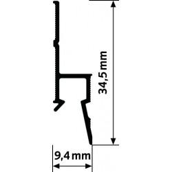 Zakládací lišta Deco Rail, bílá - 200 cm