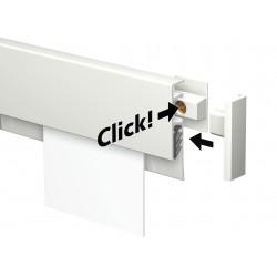 Lišta na poznámky Info Rail, bílá - 200 cm