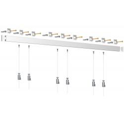 Nástěnný set Artiteq Click Rail 3m, bílý + 6x perlon včetně háčků